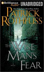 book cover for The Wise Man's Fear by Patrick Rothfuss