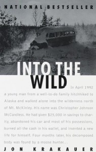 book cover for Into the Wild by Jon Krakauer