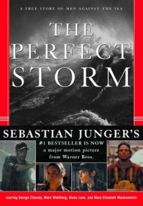 book cover for the Perfect Storm by Sebastian Junger