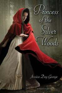 book cover for princess of the silver woods by Jessica Day George