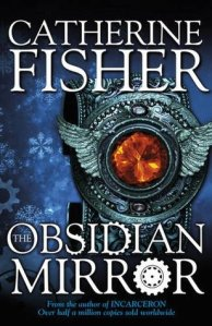 book cover for obsidian mirror by catherine fisher