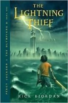 Book cover for The Lightening Thief by Rick Riordan