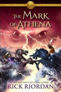 book cover for The Mark of Athena by Rick Riordan