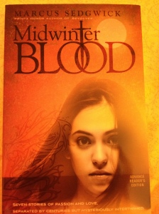 book cover for Midwinterblood by Marcus Sedgwick